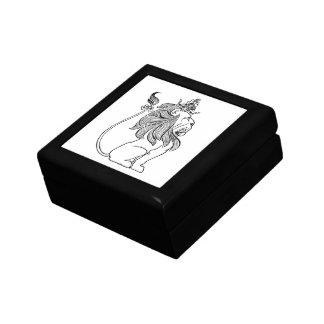 ヴィンテージオズの魔法使いの王冠を持つ臆病なライオン ギフトボックス