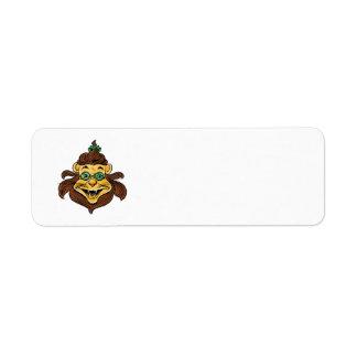 ヴィンテージオズの魔法使いの緑ガラスを身に着けているライオン ラベル