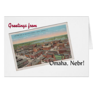 ヴィンテージオマハ、ネブラスカの郵便はがきの挨拶状 カード