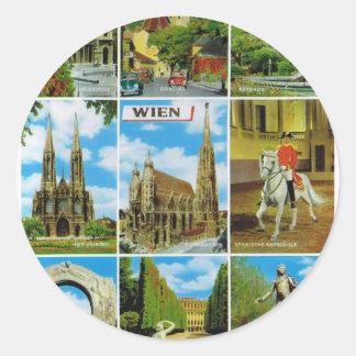 ヴィンテージオーストリア、Wien、ウィーン、Multiview ラウンドシール