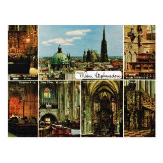 ヴィンテージオーストリア、Wien、ウィーン、StephansDom ポストカード