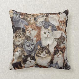 ヴィンテージカラフルな猫パターン装飾用クッション クッション