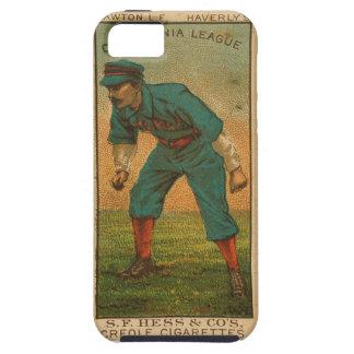 ヴィンテージカリフォルニアリーグベースボールカードiphone5 iPhone SE/5/5s ケース