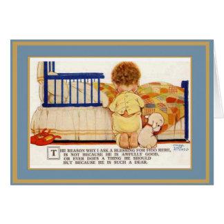 ヴィンテージカード子供犬 カード