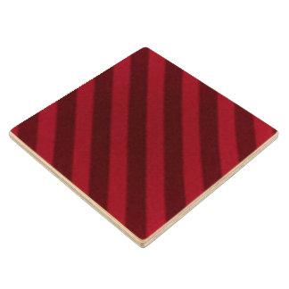 ヴィンテージキャンデーのストライプの壁紙のクランベリーの赤 ウッドコースター