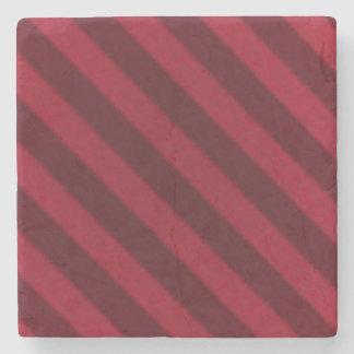 ヴィンテージキャンデーのストライプの壁紙のクランベリーの赤 ストーンコースター