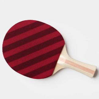 ヴィンテージキャンデーのストライプの壁紙のクランベリーの赤 卓球ラケット