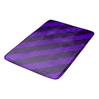 ヴィンテージキャンデーのストライプの紫色の紫色 バスマット
