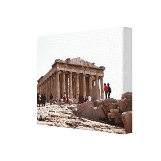 ヴィンテージギリシャ、アテネのアクロポリス、パルテノン キャンバスプリント