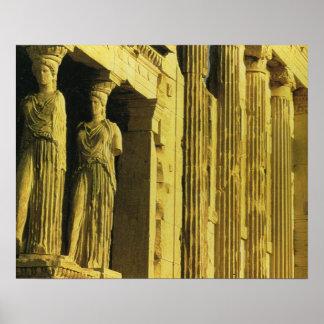 ヴィンテージギリシャ、アテネのアクロポリス、パルテノン ポスター