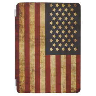 ヴィンテージグランジで愛国心が強い米国の米国旗 iPad AIR カバー