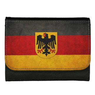 ヴィンテージグランジなドイツ旗のドイツの旗 ウォレット
