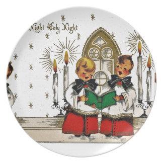 ヴィンテージサンタクリスマスポストカード0029 プレート