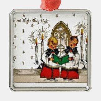 ヴィンテージサンタクリスマスポストカード0029 メタルオーナメント