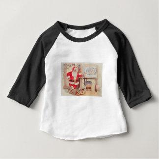 ヴィンテージサンタクリスマスポストカード0355 ベビーTシャツ
