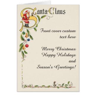 ヴィンテージサンタクロースの装飾的なクリスマスのボーダー カード