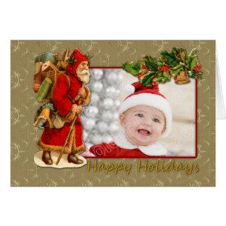 ヴィンテージサンタ-幸せな休日 カード