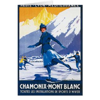 ヴィンテージシャモニー-モンブランポスター カード