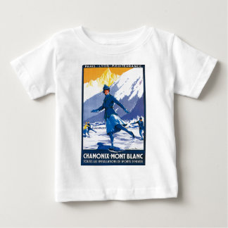 ヴィンテージシャモニー-モンブランポスター ベビーTシャツ