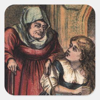 ヴィンテージシンデレラおよび彼女の妖精 スクエアシール