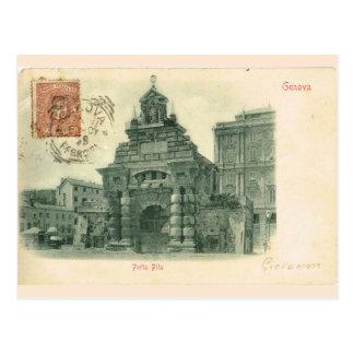 ヴィンテージジェノバ、Porta Fila 1907年 ポストカード