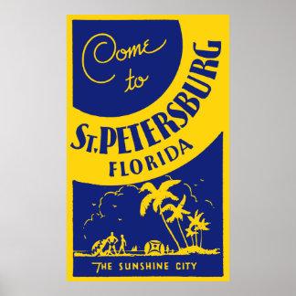 ヴィンテージセント・ピーターズバーグフロリダ ポスター