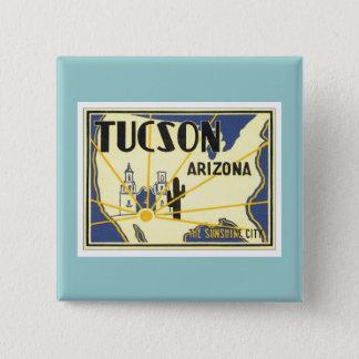 ヴィンテージチューソンアリゾナ 5.1CM 正方形バッジ