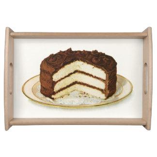 ヴィンテージチョコレートはレイヤーケーキのトレイを凍らしました トレー