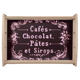 ヴィンテージチョコレートカフェ広告活版印刷 トレー