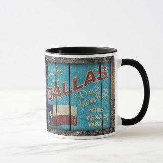 ヴィンテージテキサス州-ダラスのマグ マグカップ