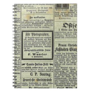 ヴィンテージドイツ新聞ノート ノートブック