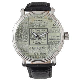 ヴィンテージドイツ新聞腕時計 腕時計