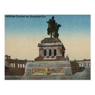ヴィンテージドイツ、コブレンツ、Deutches Eckの記念碑 ポストカード