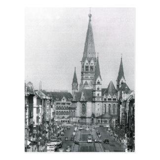 ヴィンテージドイツ、KaiserウィルヘルムKirche ポストカード