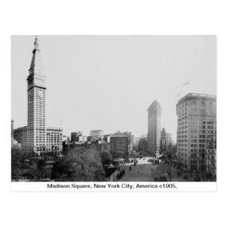 ヴィンテージニューヨークシティ、マディソンスクエア1904年 ポストカード