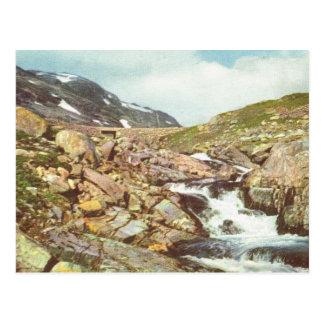 ヴィンテージノルウェーの山の春 ポストカード