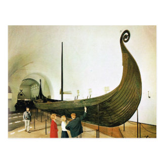 ヴィンテージノルウェーのGokstadの船 ポストカード