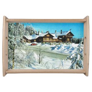 ヴィンテージノルウェー、オスロの雪の家 トレー