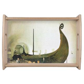 ヴィンテージノルウェー、オスロのGokstadの船 トレー