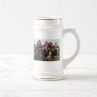 ヴィンテージノルウェー、ラプランドのSami家族1950年 ビールジョッキ