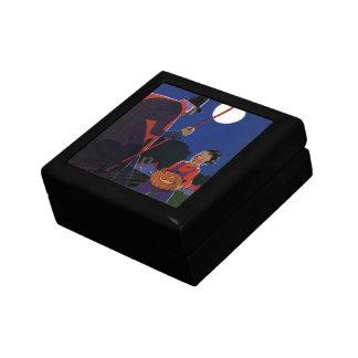 ヴィンテージハロウィンの男の子を持つ気色悪い魔法使い ギフトボックス