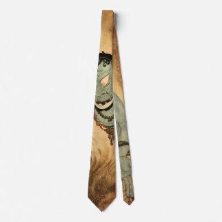 ヴィンテージハロウィンの角を持つ気色悪い鬼モンスター ネクタイ