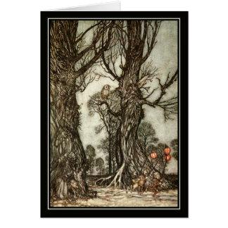 ヴィンテージハロウィンアーサーRackham妖精の球 カード