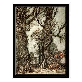 ヴィンテージハロウィンアーサーRackham妖精の球 ポストカード