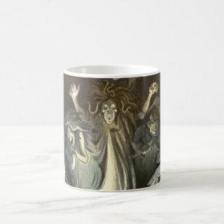 ヴィンテージハロウィン、恐い幽霊および骨組音楽 コーヒーマグカップ