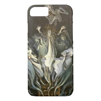 ヴィンテージハロウィン、恐い幽霊および骨組音楽 iPhone 8/7ケース