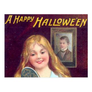 ヴィンテージハロウィン-鏡の他人 ポストカード