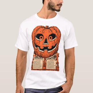 ヴィンテージハロウィン- 20年代のハロウィーンのカボチャのちょうちんのワイシャツ Tシャツ