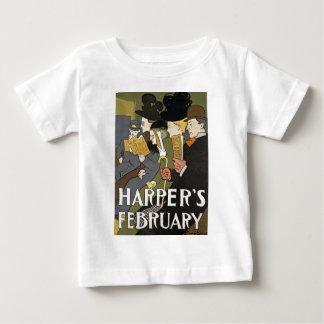 ヴィンテージハープ奏者ポスター ベビーTシャツ