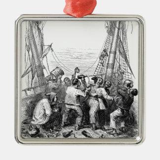 ヴィンテージバッカニアーズおよび難破させられた海賊船 メタルオーナメント